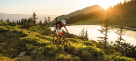 Mountainbiken am Kreuzjöchlsee in Westendorf