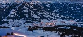 Westendorf im Winter von oben