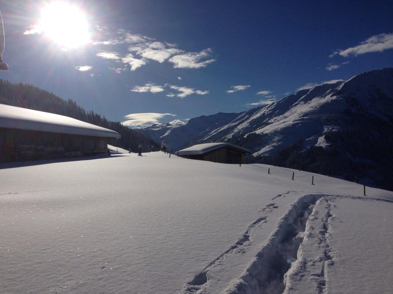 Herrlicher Wintertag zum Skitour gehen