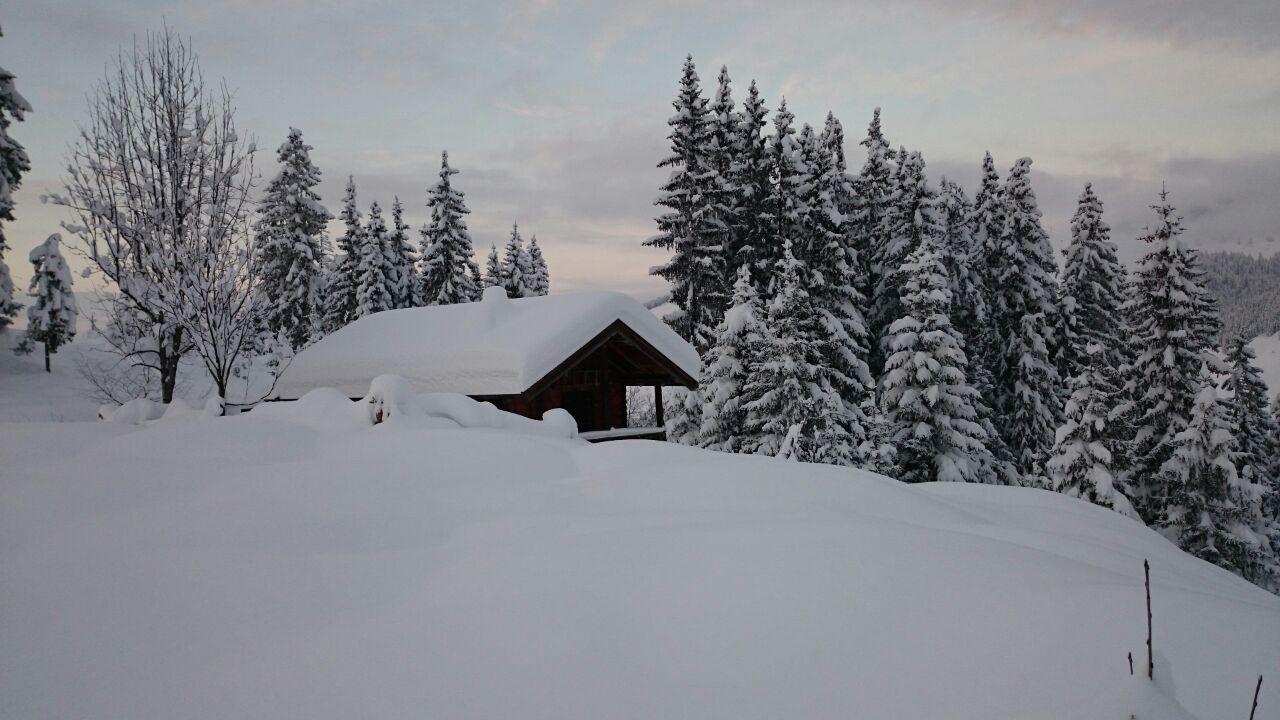 ...die Hütte befindet sich am Fuße des Floch