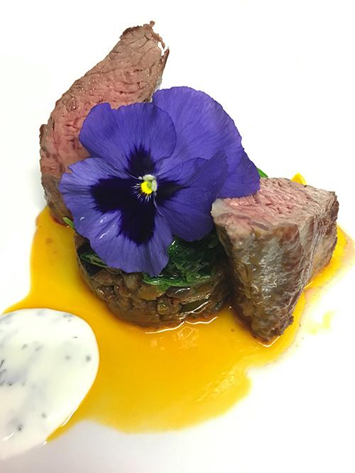 Australische Lammlende - Aubergine - Spinat