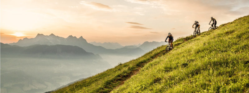 Mountainbiker in den Kitzbüheler Alpen