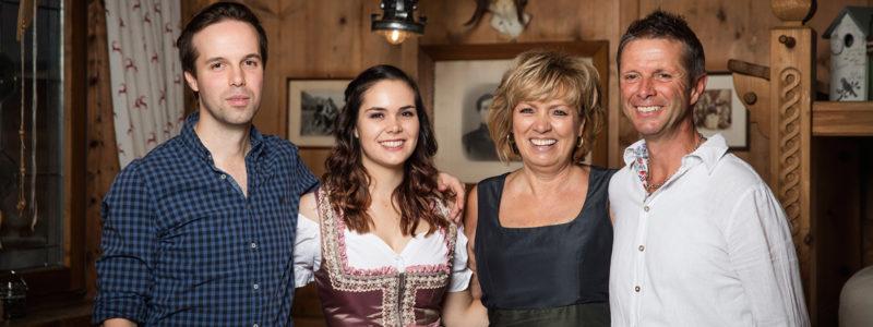 Familie Eberl die Besitzer des Hotel Glockenstuhl in Westendorf