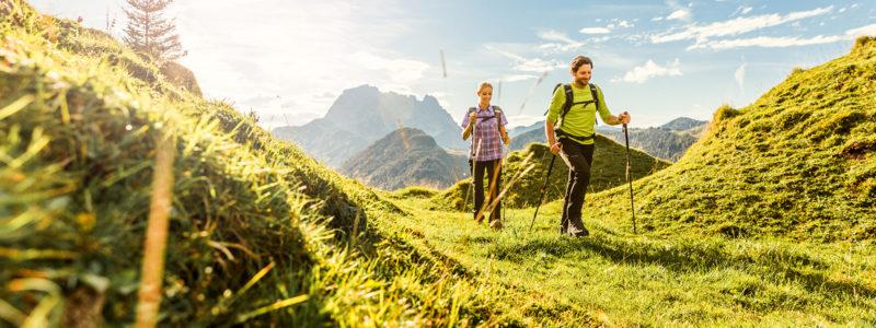 Wanderer in den Kitzbüheler Alpen