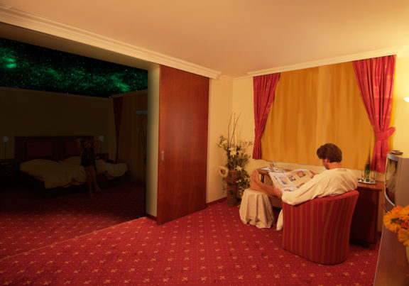 Sternenhimmel in den Zimmern im Hotel Glockenstuhl in Westendorf