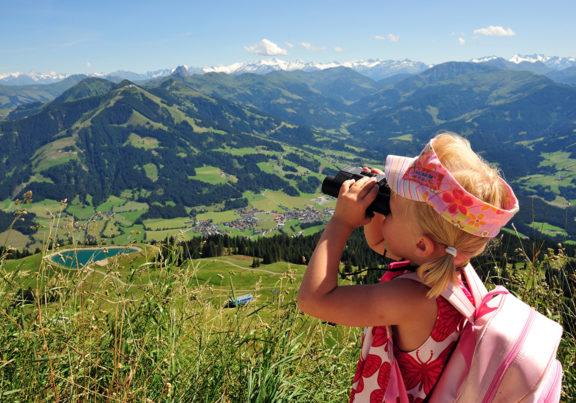 Ausblick von der Hohen Salve in Hopfgarten Richtung Westendorf im Brixental