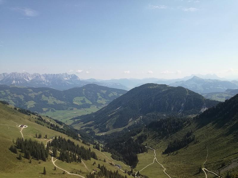 Ausblick Wanderung zum Fleiding Gipfel