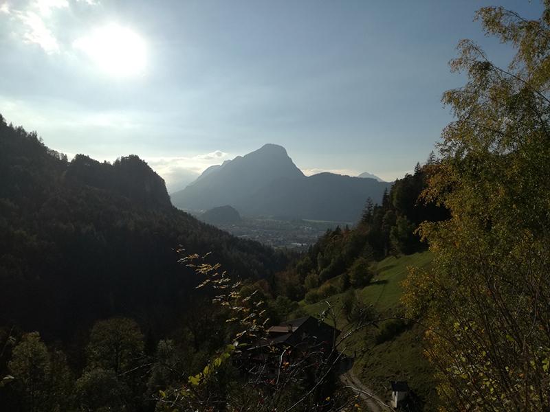 Ausblick nach Kufstein vom Kaisertal
