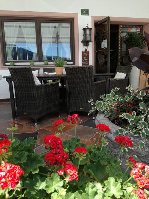Terrasse beim Hotel Glockenstuhl in Westendorf