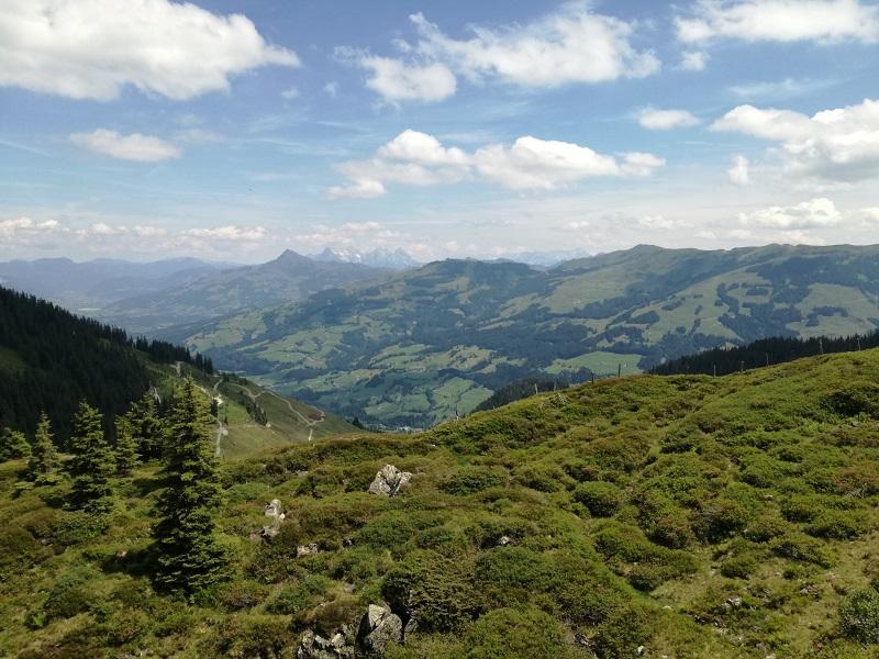 Ausblick vom Brechhorn Gipfel