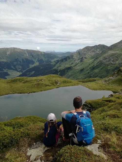 Blick auf den Wildalmsee in der Kelchsau