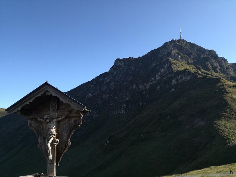 Ausblick vom Harschbichl auf das Kitzbüheler Horn