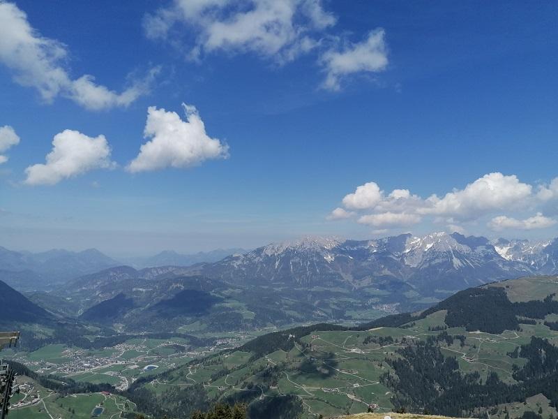 Ausblick von der Hohen Salve in Hopfgarten