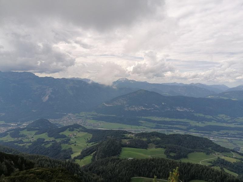 Ausblick vom Gratlspitz in Brixlegg Richtung Inntal