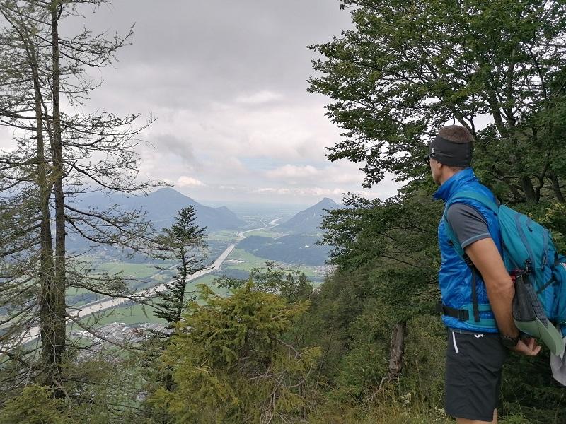 Ausblick auf das Inntal vom Kaisertal in Kufstein